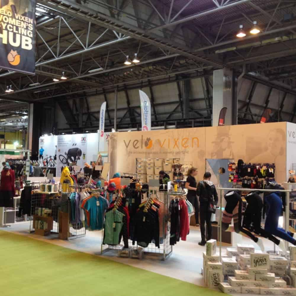 Modular exhibition stands with interchangeable fabric graphics