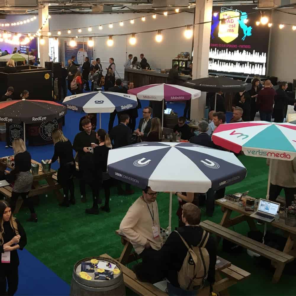 Fully Branded Parasols for Events | XG Group