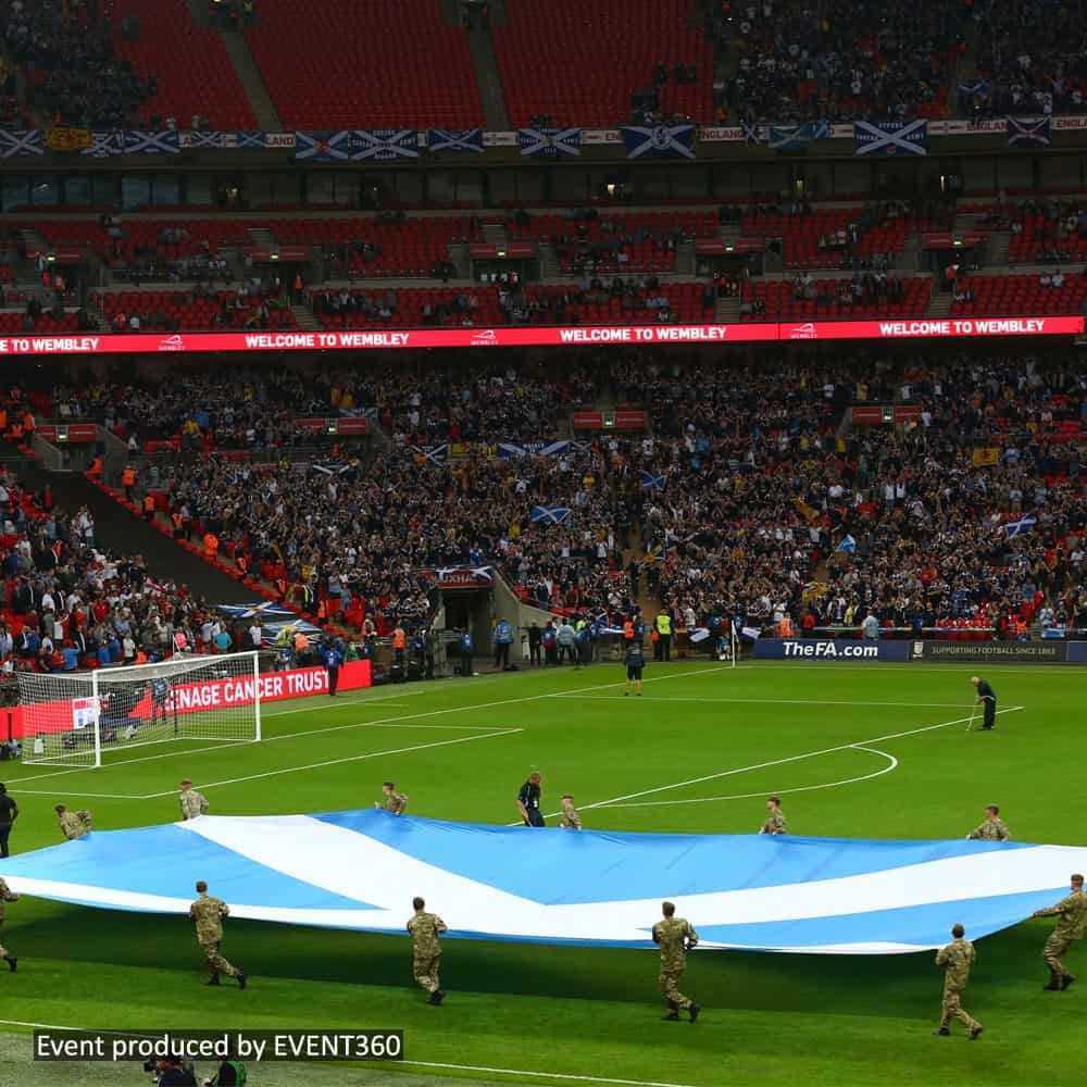 Giant Country Flag at Wembley | Custom Printed by XG Group