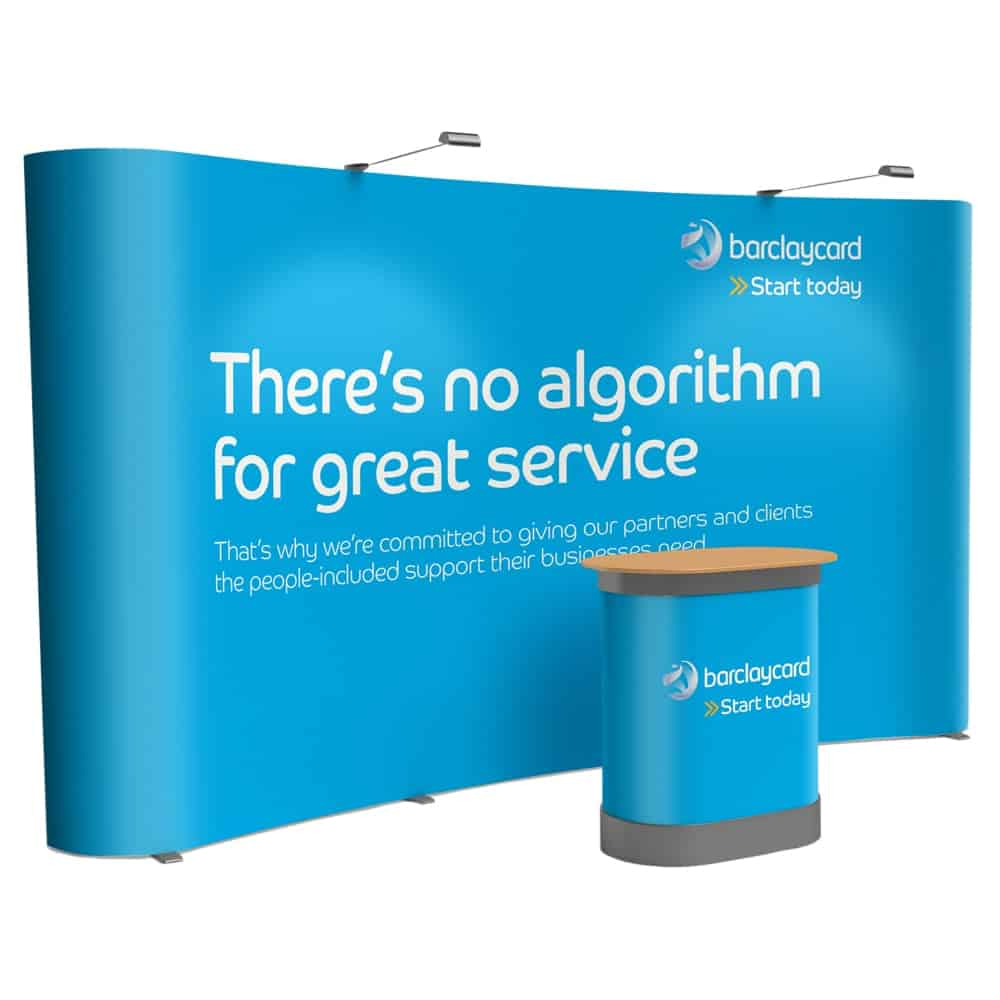Pop Up Displays with Graphics and Branded Counter