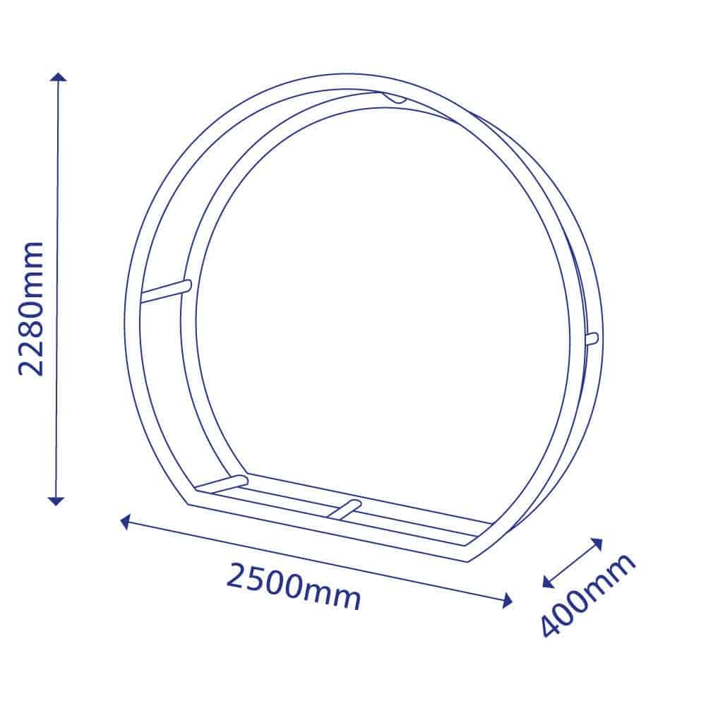 Stretch Fabric Display Disk Shape Size Diagram