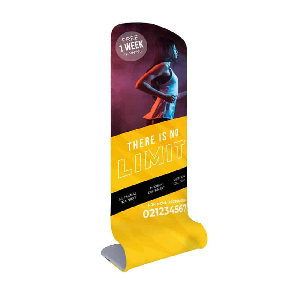SFS snake stretch fabric displays