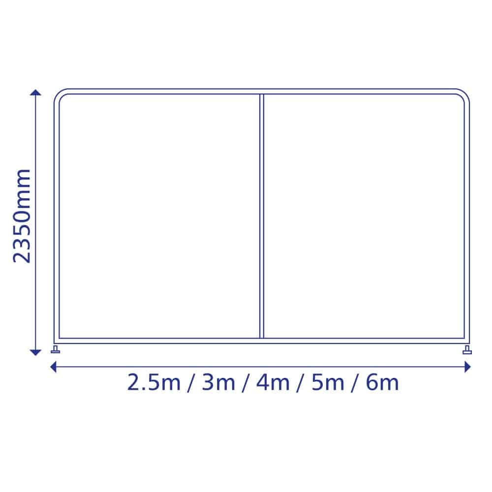 SFS Straight Displays Size Diagram