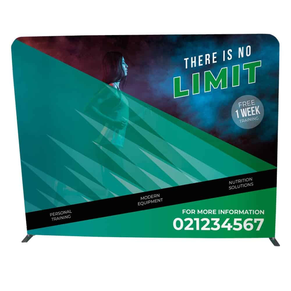 Straight stretch fabric displays