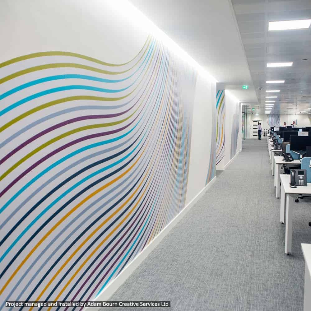 Cover your office walls with custom printed graphics