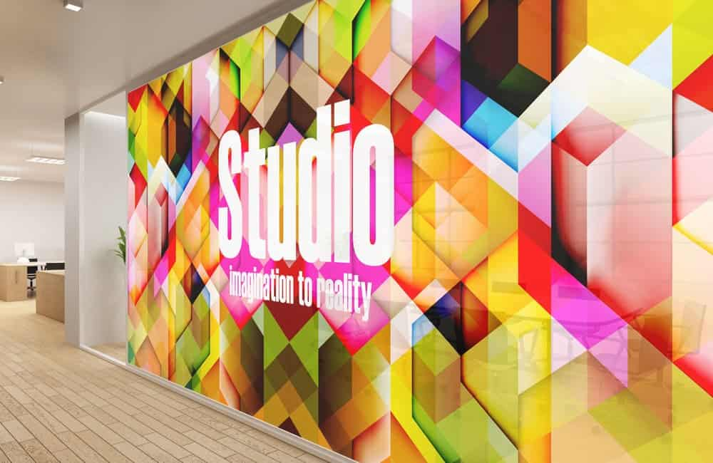 Window Film Graphics with CMYK and White Printing