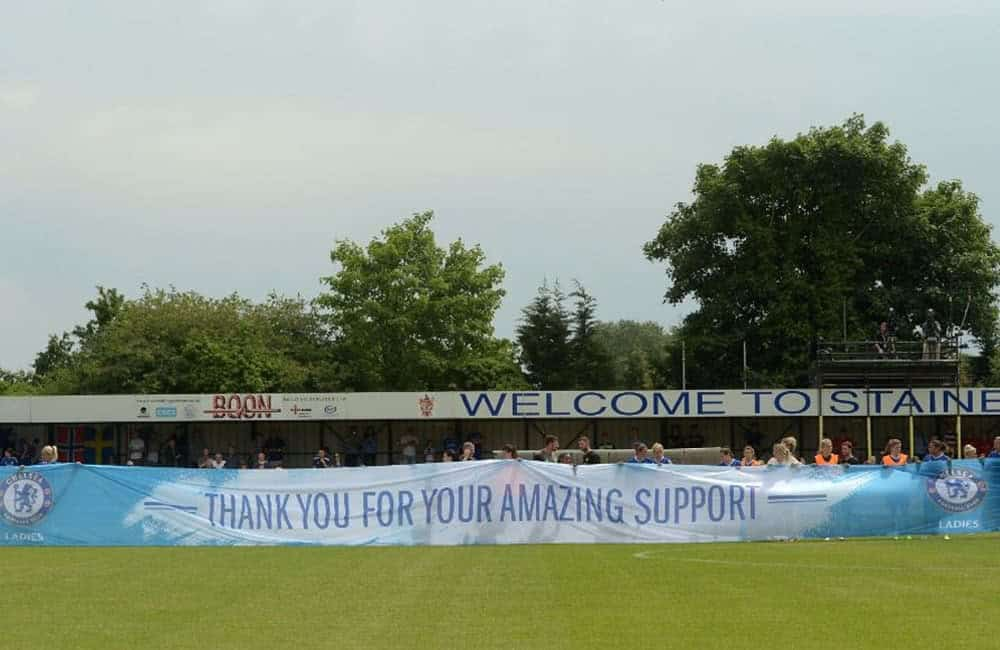 Giant Fabric Banner | Chelsea Ladies FC Thank You to Supporters