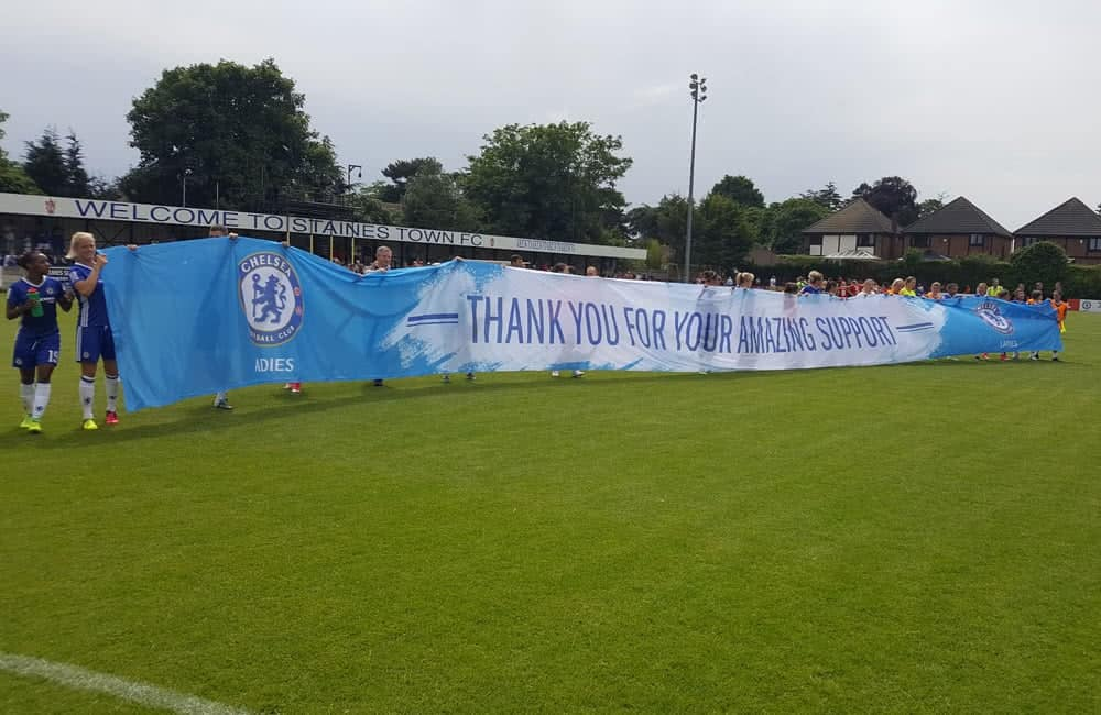 Chelsea Ladies FC Giant Fabric Banner | XG Group