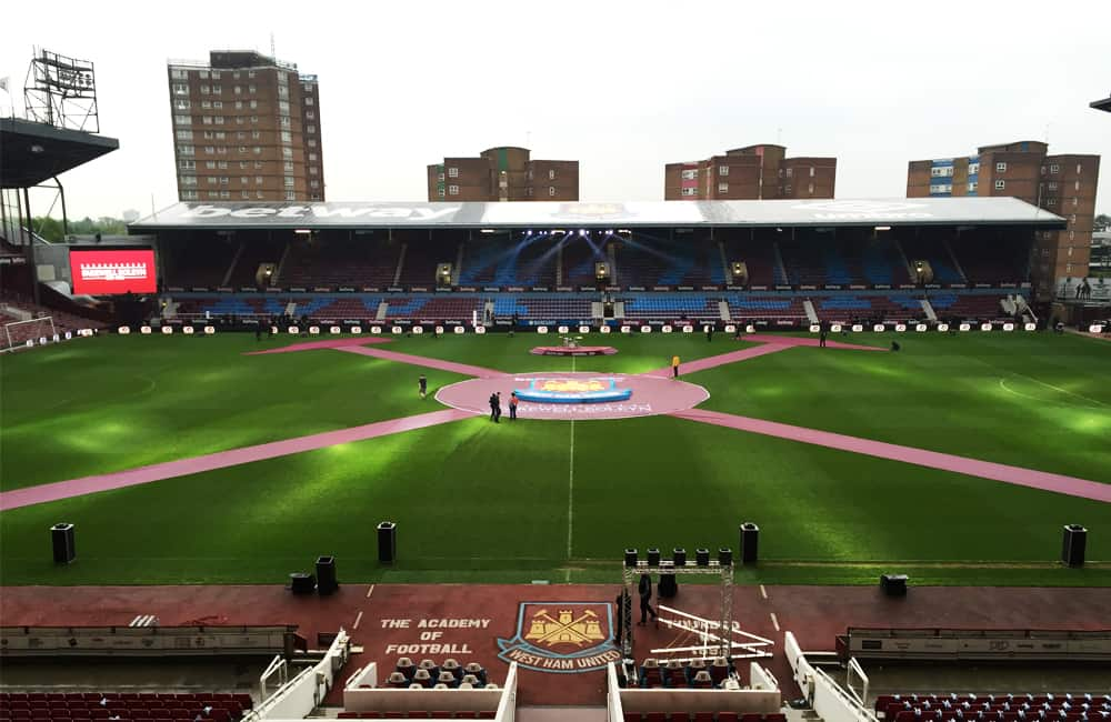 Giant Pitch Banners   West Ham United FC