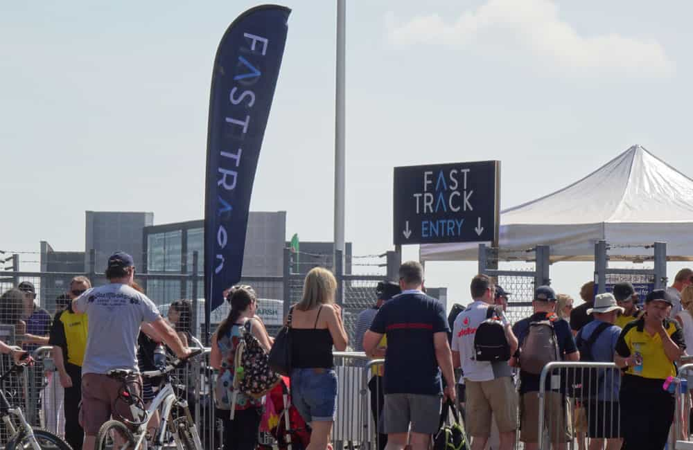 Entry Lane Feather Flags at Silverstone Circuit | XG Group