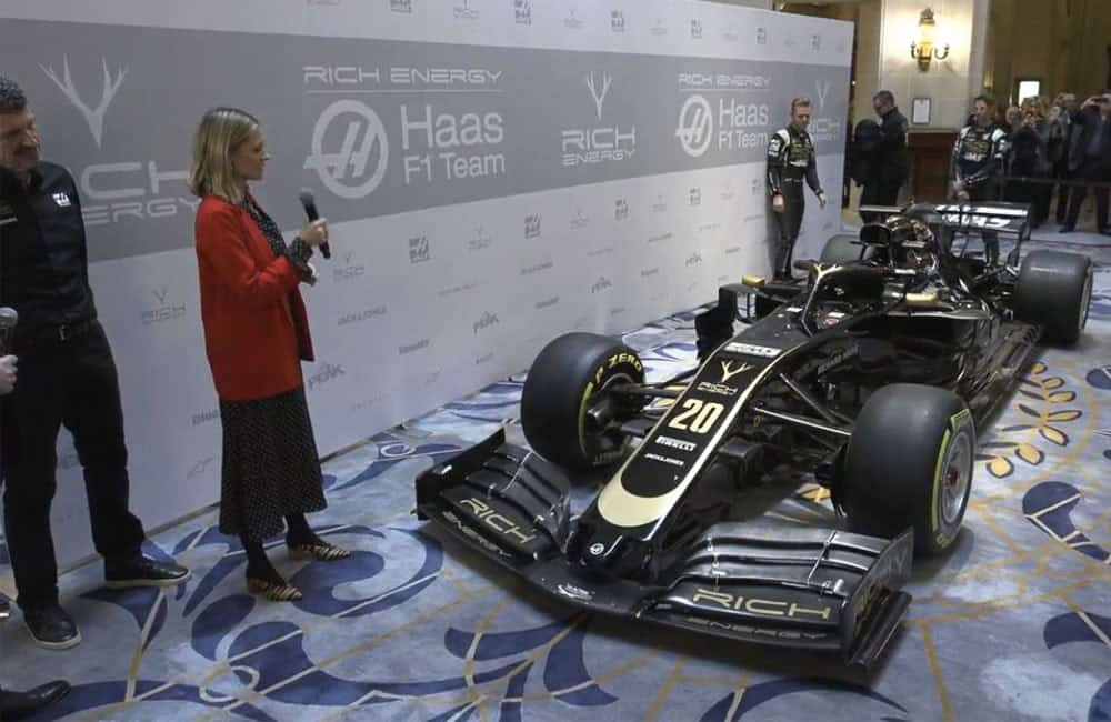 Haas F1 Media Backwall Backdrop for Livery Launch