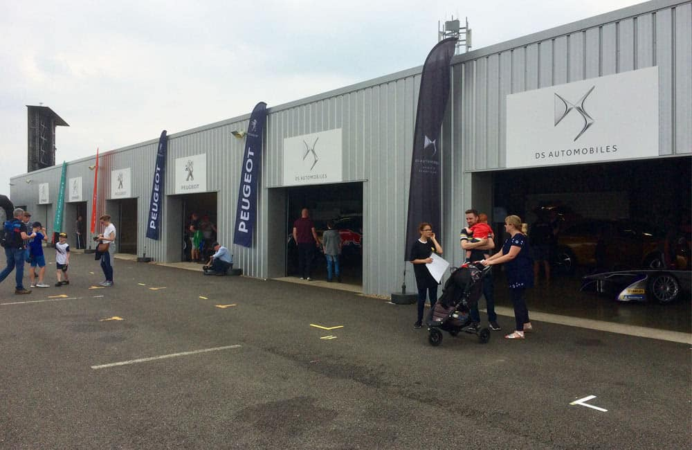 Pit Lane Feather Flags at Silverstone Circuit | XG Group