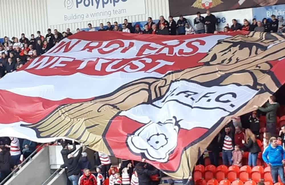 Doncaster FC Supporters Crowd Flag