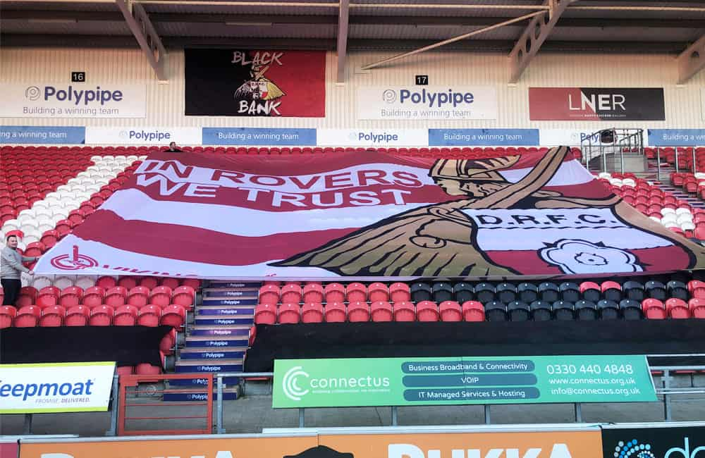 Doncaster Rovers Supporters Crowd Flag | Stadium Seat Cover