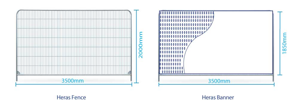 Heras Fence Banner Sizes | XG Group