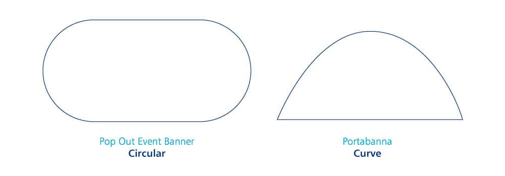 Pop Up Event Banners Shapes | Circular and Curve
