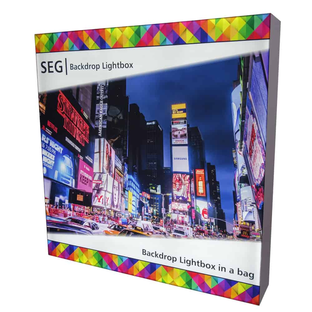 SEG Backdrop Lightbox Display in a Bag