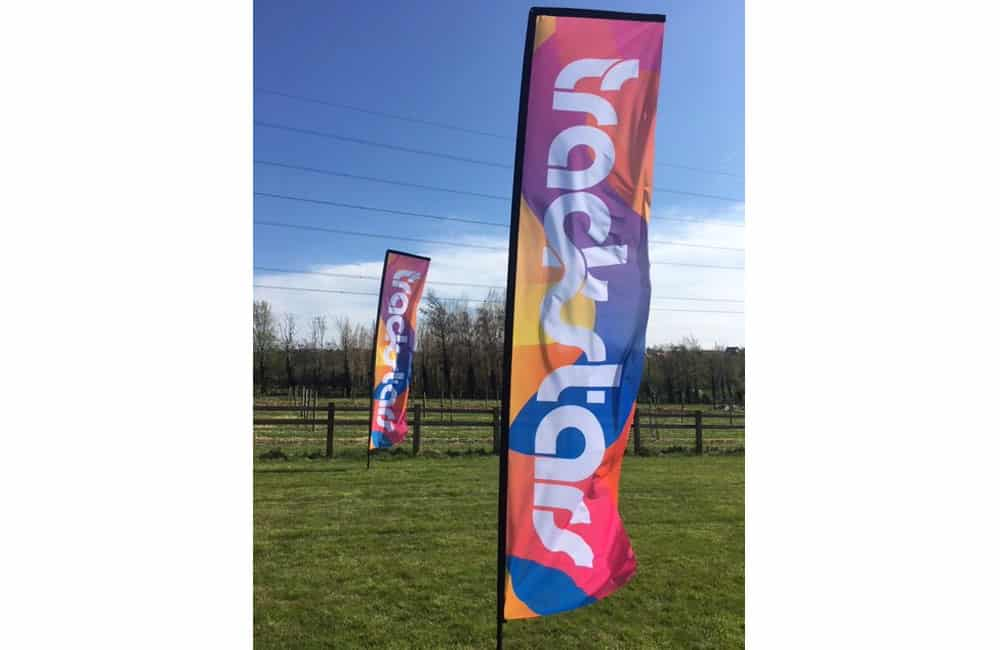Large Printed Sail Flags for TrackStars