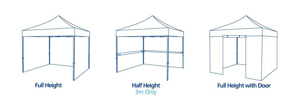 Pop Up Event Tents Sidewall Options | XG Group