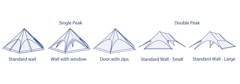 Star Tent Sidewalls Options | XG Group