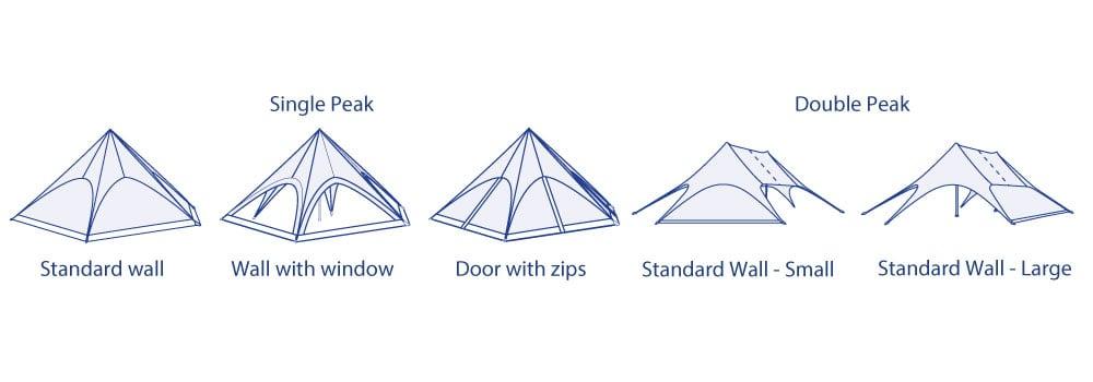 Star Tent Sidewall Options