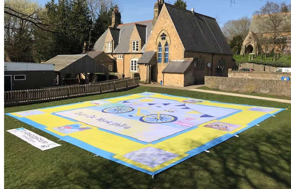 Tour de Yorkshire Giant Banner with Winning School Design