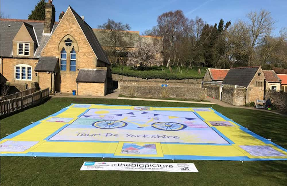 Giant Pitch Banner for Tour de Yorkshire School Competition