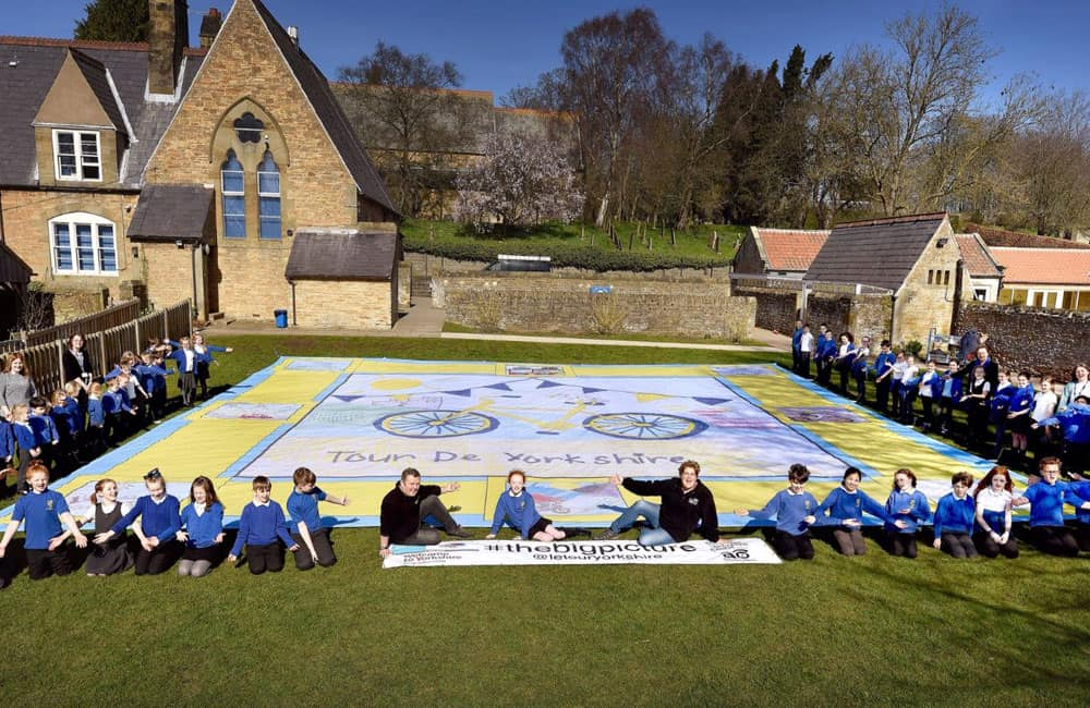 Tour de Yorkshire Giant Printed Banner with Winning School