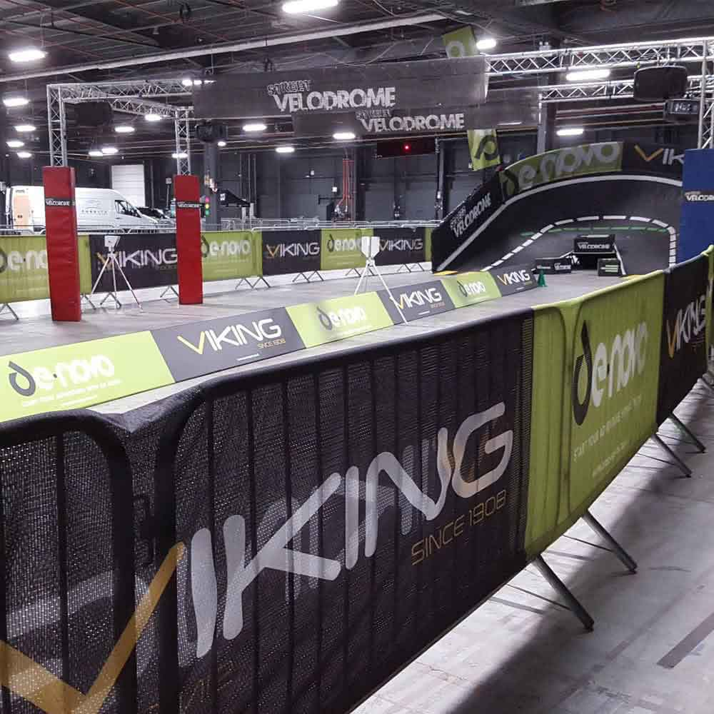 Printed crowd barrier covers for StreetVelodrome | XG Group