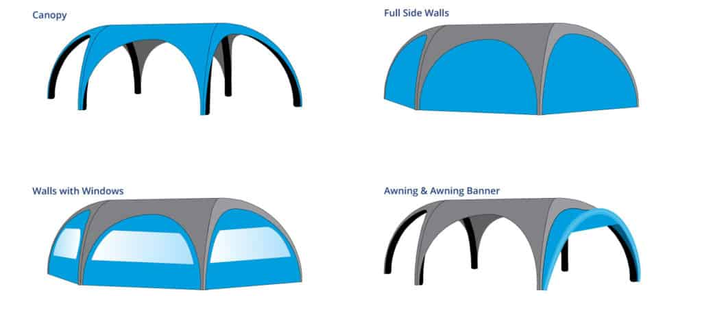 Inflatable Dome Plus Walls, Windows & Awnings
