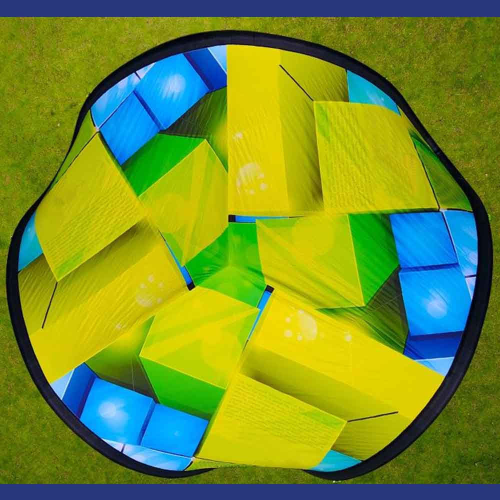 Bird's Eye View of Inflatable Tripod Tent Graphic Area