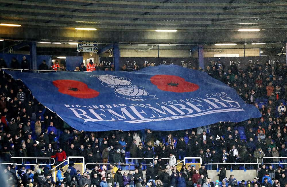 Birmingham City Remembrance Crowd Flag