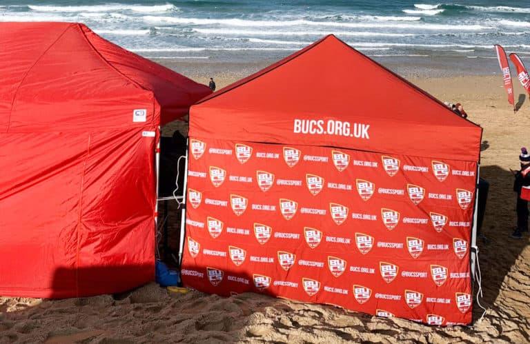 BUCS Surf Championships Branded Gazebos