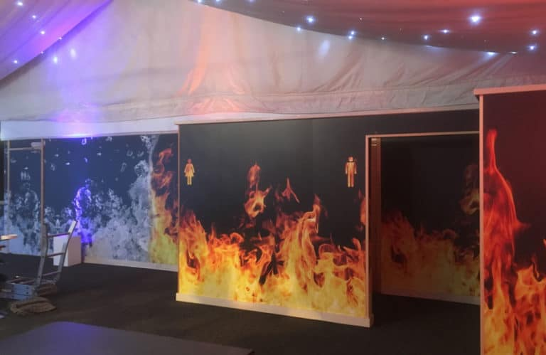 Event Branding Graphics and Fitting Service - Luton Hoo