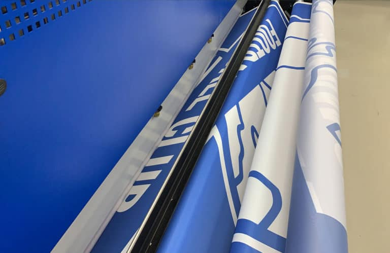 BCFC remembrance crowd flag in print production at XG Group