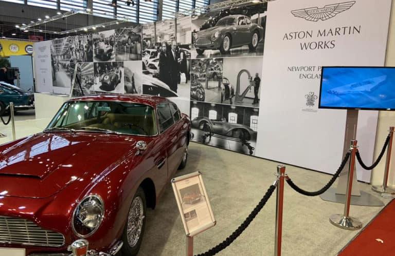 Aston Martin Works Modular Display at Retromobile Show Paris