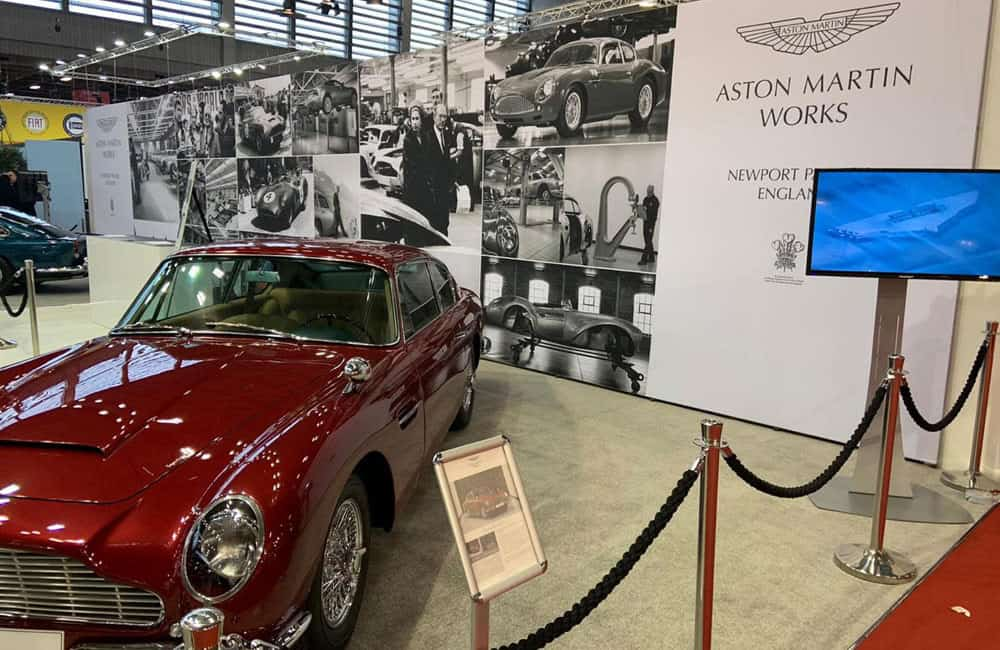 Aston Martin Works Modular Display at Retromobile Show Paris