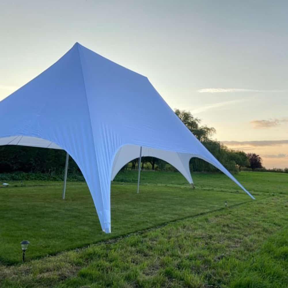 Plain White Star Tent